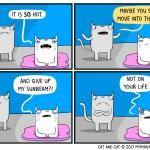 Cat comic sunbeam