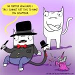 cat comic magic