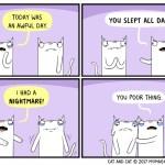 cat comic bad day