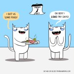 cat comic fry
