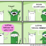 cat comic sleep