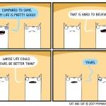 cat comic good life