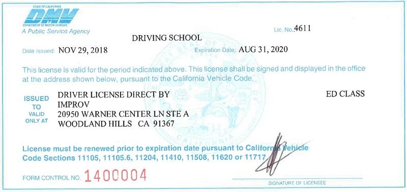 Interim Driver License Ca
