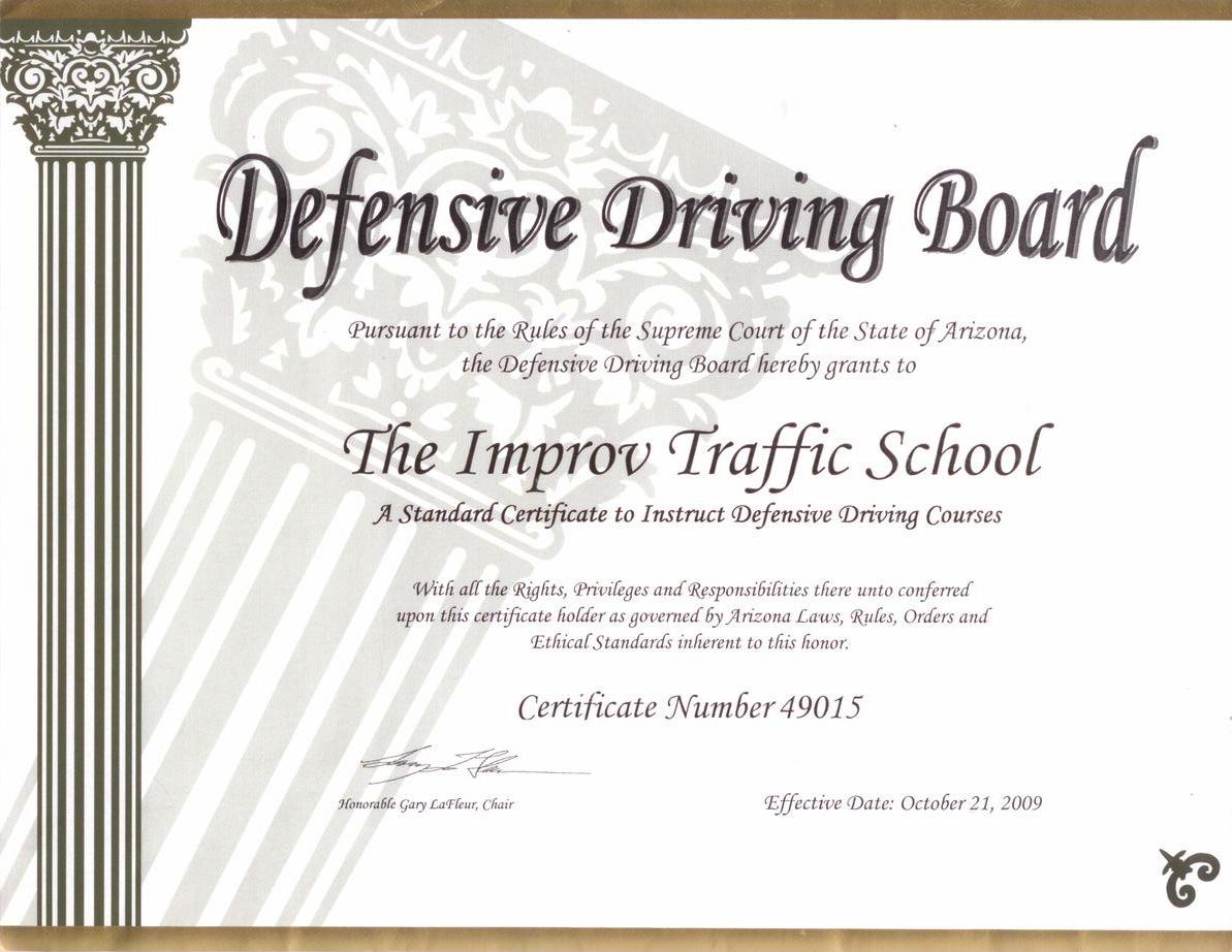Arizona Defensive Driving School By Improv