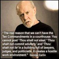 George Carlin: On the Ten Commandments