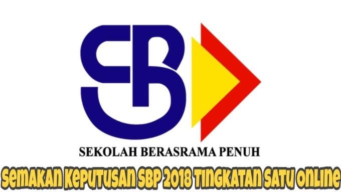 Semakan Keputusan SBP 2019 Tingkatan Satu Online