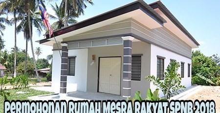 Permohonan Rumah Mesra Rakyat SPNB 2018 Online