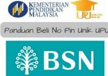 Panduan Beli No PIN UPU Sesi 2018/2019