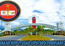 Semakan Keputusan UPSI Sesi Februari 2018 Lepasan STPM/ Setaraf