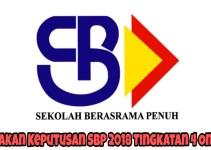 Semakan Keputusan SBP 2018 Tingkatan 4 Online
