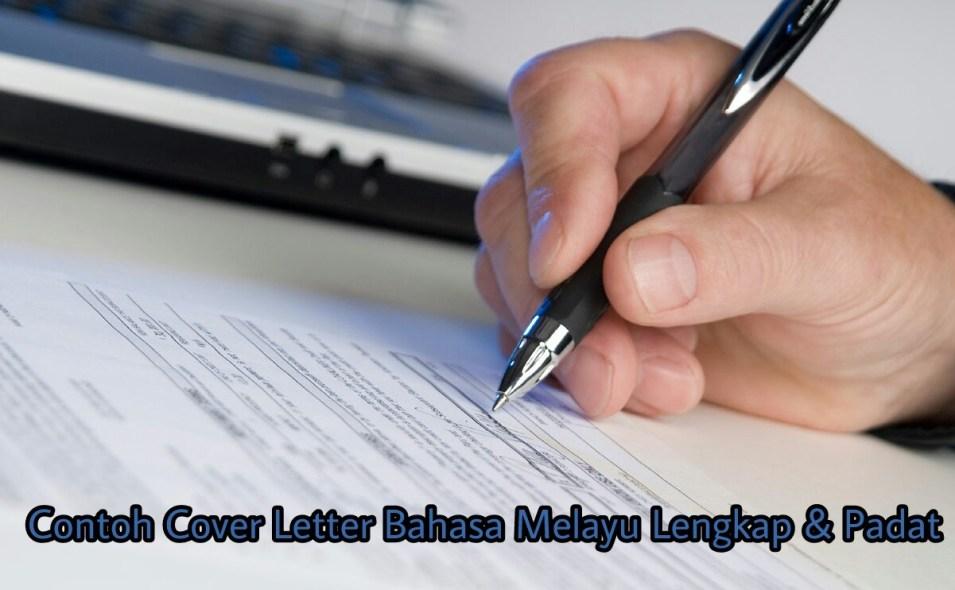 Contoh Cover Letter Bahasa Melayu Lengkap Padat