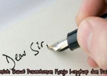 Contoh Surat Permohonan Kerja Lengkap dan Padat