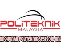 Permohonan Politeknik Sesi 2018 Online