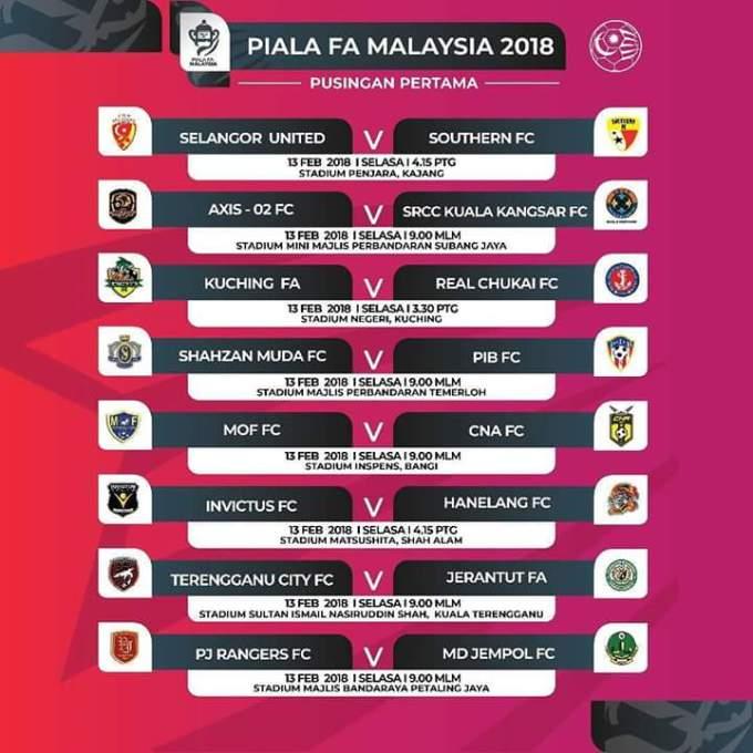 Jadual Piala FA Malaysia 2018