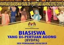 Permohonan Biasiswa Yang Di-Pertuan Agong 2018/2019 Online