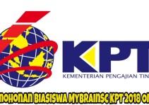 Permohonan Biasiswa MyBrainSc KPT 2018 Online