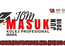 Permohonan Kolej Profesional MARA (KPM) 2018 Online