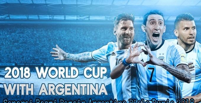 Senarai Rasmi Pemain Argentina Piala Dunia 2018