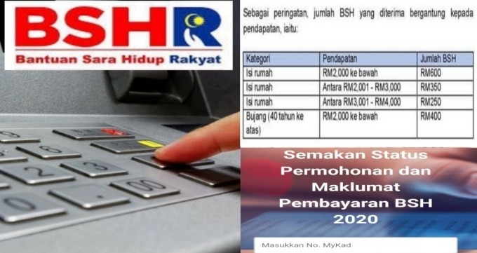 Tarikh Pembayaran BSH Fasa 3 Bagi Isi Rumah & Tambahan RM480 Untuk Anak (Semak Status)