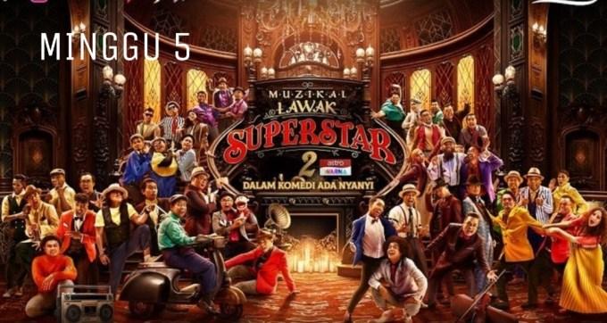 Live Streaming Muzikal Lawak Superstar 2020 Minggu 5 (Siaran Langsung)