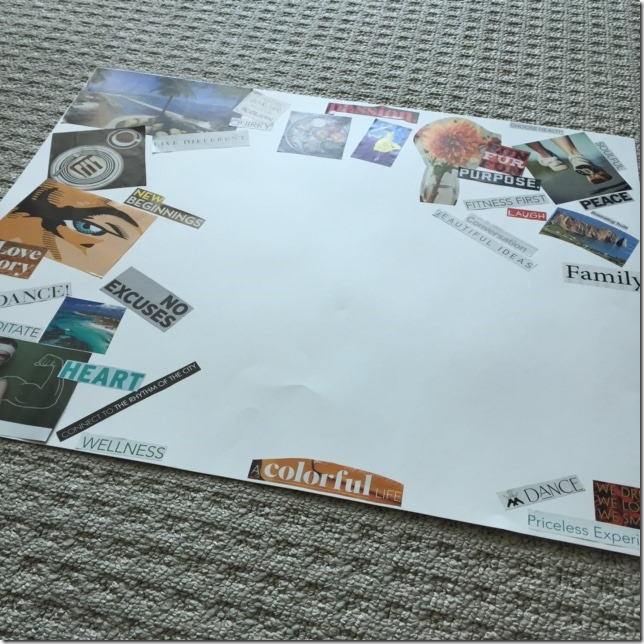 Creating a vision board 2