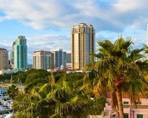 Water view of St. Petersburg, FL