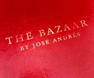 Jose Andres Bazaar in South Beach Miami Menu cover