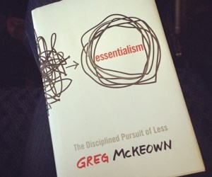 Essentialism by Greg McKeown book cover