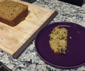 Slice of chocolate chip zucchini bread