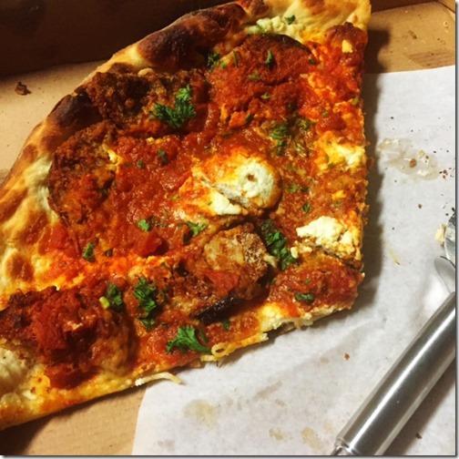 Eggplant Parm pizza