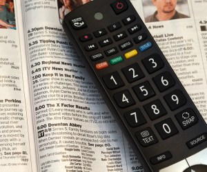Television remote with open TV guide