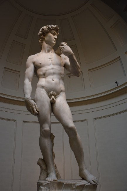 Statue of David at the Ufizzi