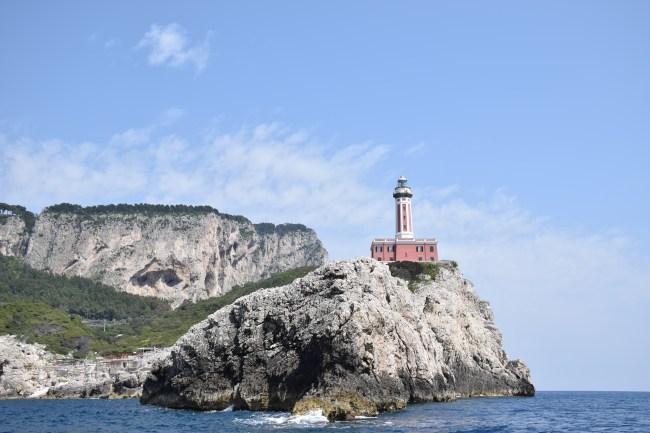 Boat tour around Capri, Italy