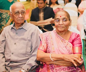 Grandparents at granddaughter's wedding