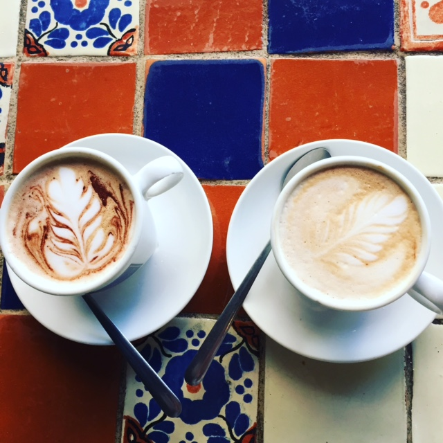 Mochas at Kahwa coffee
