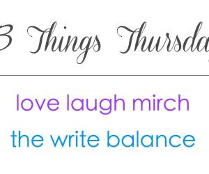 Three Things Thursday logo