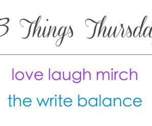 Three Things Thursday logo