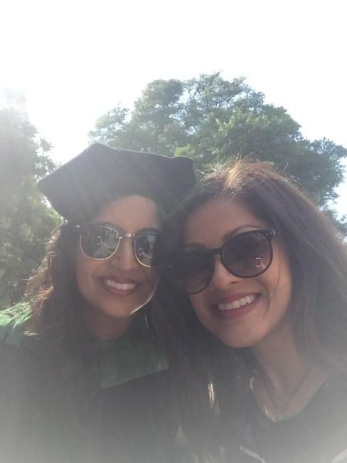 Proud sister at medical school graduation