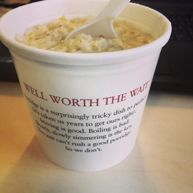 Pret's Porridge in London