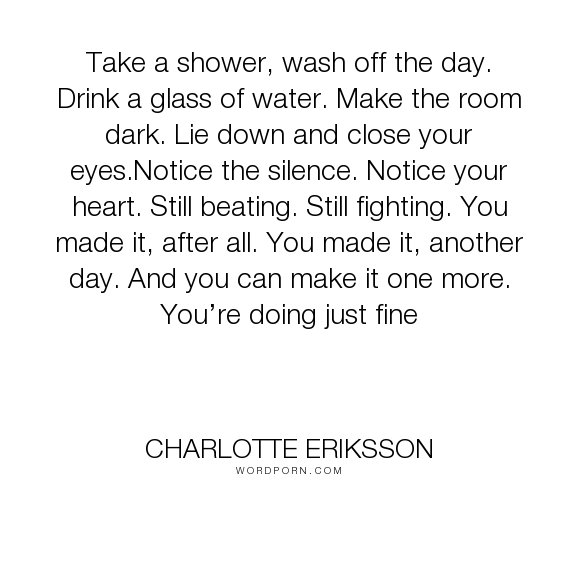 Charlotte Eriksson quote