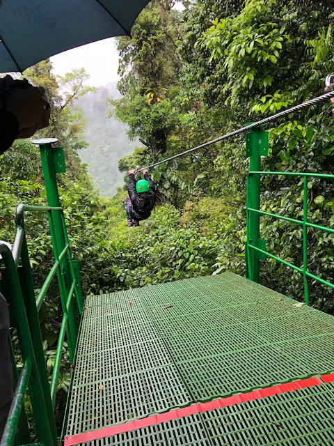 Zip lining in Arenal Costa Rica