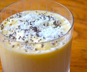 he Truly Healthy Vegetarian Cookbook - Coconut-Mango Smoothie