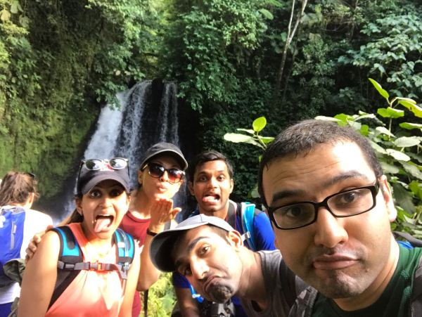 Goofy group picture in Arenal