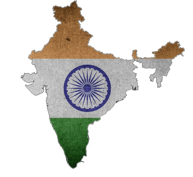 Indian map flag