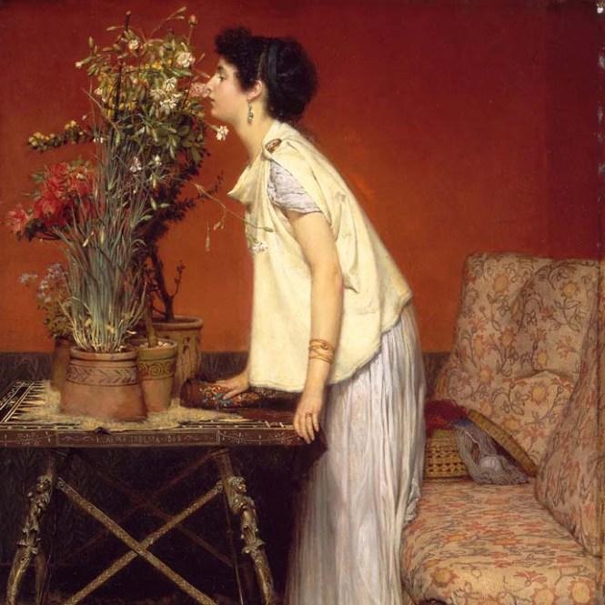alma-tadema-vrouw-bloemen