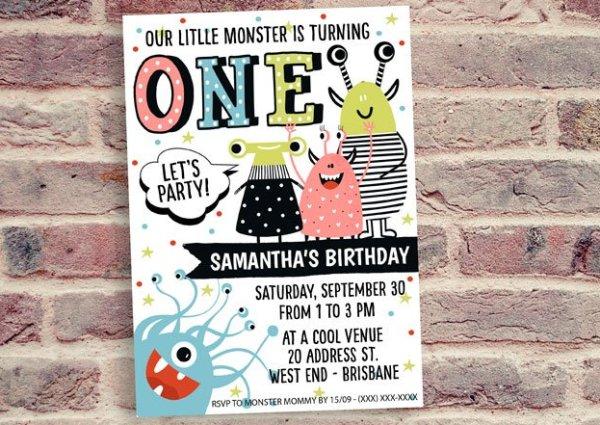 Monster Birthday Invitation