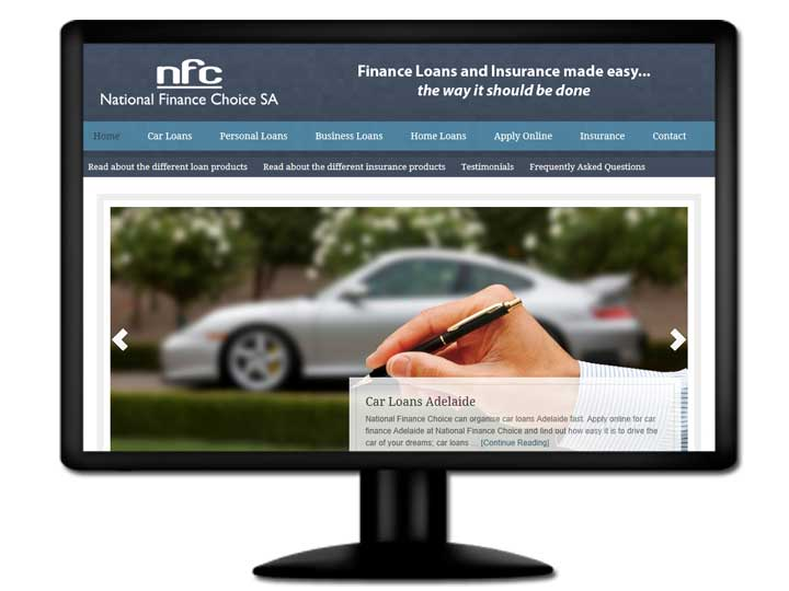 read about the website design for NFCSA