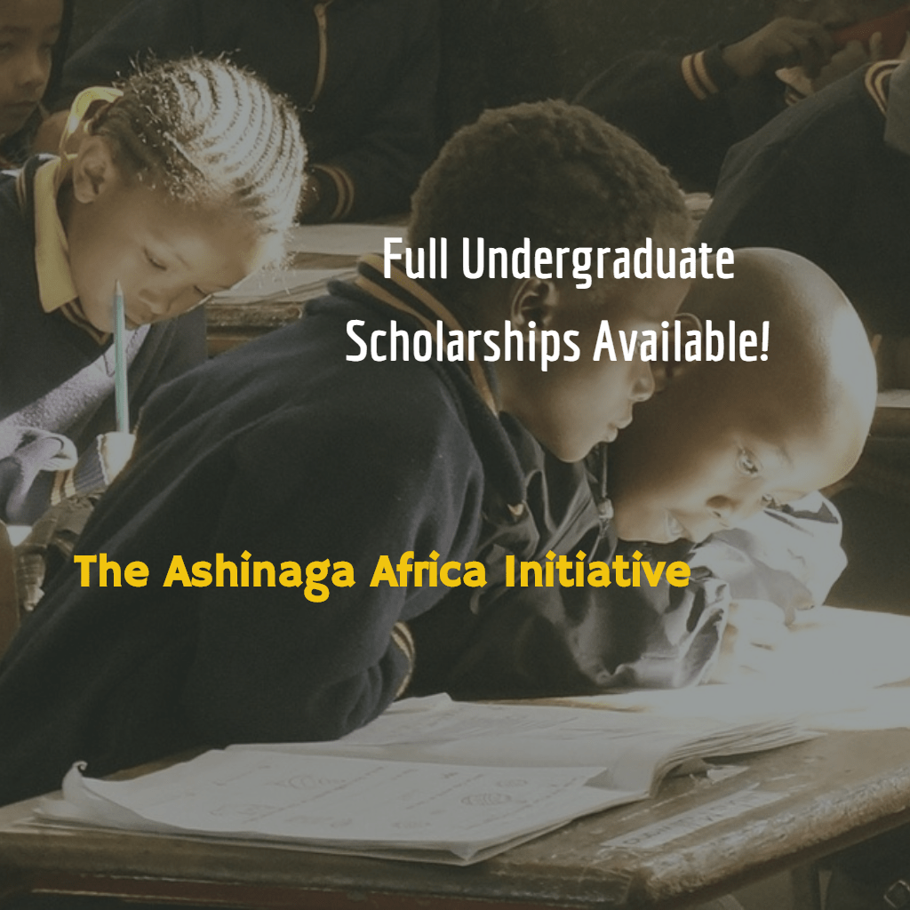 Ashinaga Africa Initiative (Undergraduate Scholarships)