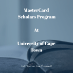 MasterCard Foundation Scholarships – University of Cape Town