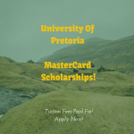 University of Pretoria MasterCard Foundation Scholarships